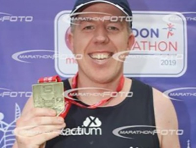 We were given a place at this year's London marathon to raise funds for Special Olympics Sheffield. Matthew Holloway stepped up to do this for us.